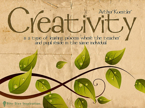 Creativity is a type of learning process where the teach and pupil reside in the same individual