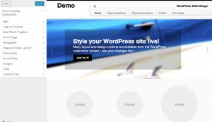 Customizr WordPress responsive theme customization options