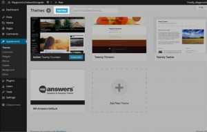 WordPress web design step 2