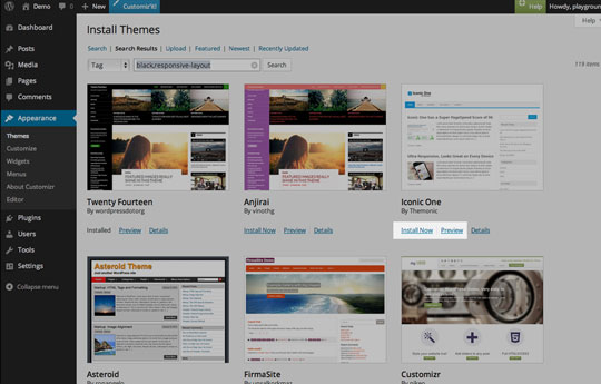 WordPress web design step 4