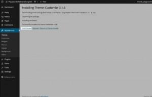 WordPress web design step 5