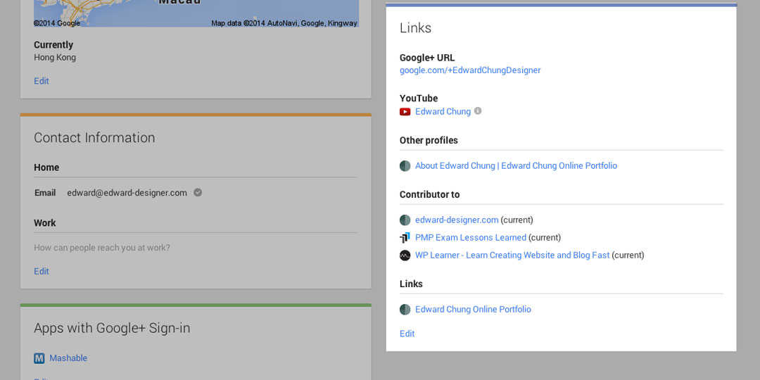 Adding Google Plus Profile Step 2