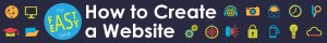 banner for the guide: how to create a website