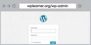 Log in page for WordPress