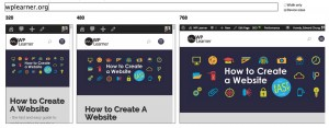 the responsive look of WP Learner website
